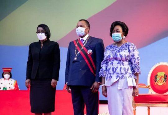 Le Gabon represente par Rose Christiane Ossouka Raponda lors de - Le Gabon représenté par Rose Christiane Ossouka Raponda lors de la cérémonie d'investiture du président congolais Denis Sassou Nguesso