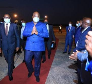 Zambie : Félix Tshisekedi participe à l'inauguration d'un pont ferroviaire et routier sur le fleuve Zambèze