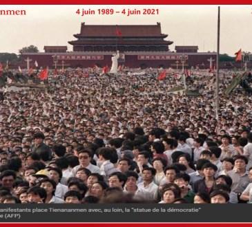 32e anniversaire du massacre de la Place Tian'anmen