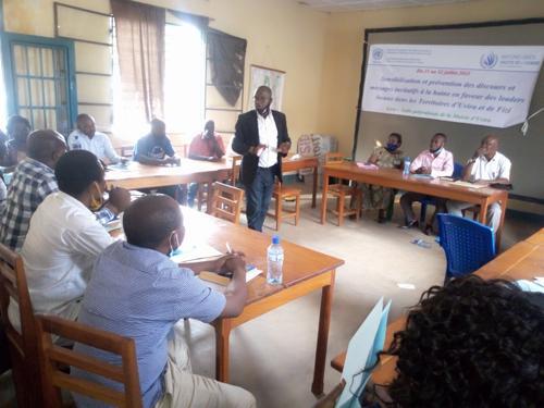 Sud-Kivu : 50 leaders d'Uvira et Fizi formés par le BCNUDH sur la lutte  les messages incitant à la haine