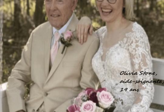 Photo by BeansHype on Twitter – photo de mariage du couple Lee Hopkins & Olivia Hopkins, née Stone.