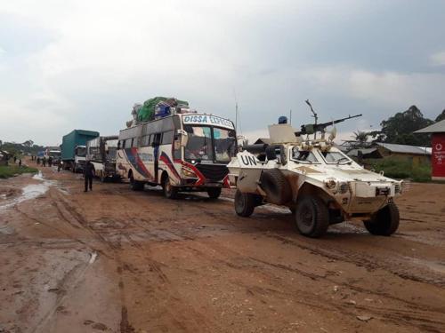 Ituri : les FARDC et la MONUSCO renforcent les « dispositifs » dans l'escorte des véhicules des civils