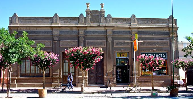 Belles façades et arbres en fleurs