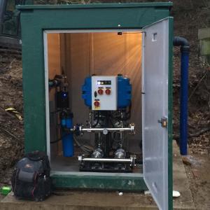 Spring water pumping