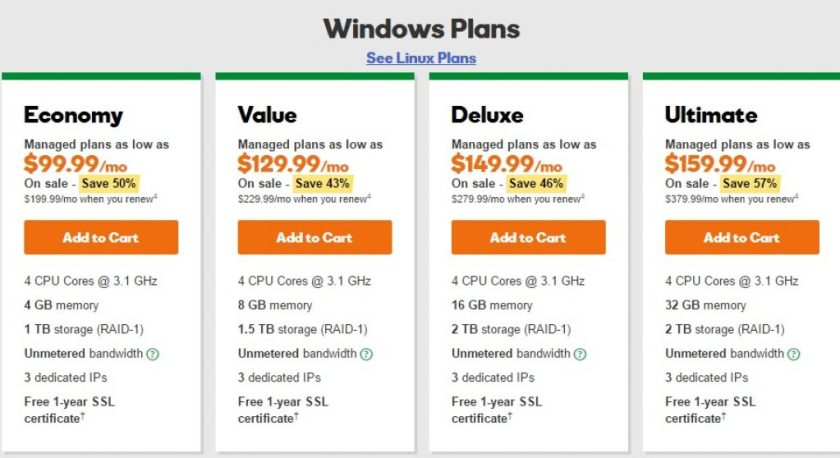 godaddy_review_windows_dedicated_web_hosting_plans