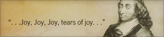 Thank you, Blaise Pascal
