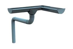 Dachrinnen aus PVC und Stahl