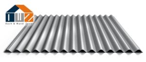 Wellblech Aluminium Zinkoptik