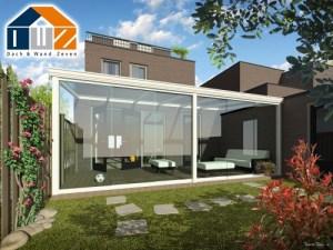 Terrassenüberdachung Sunrooms aus Aluminium mit Glasschiebetüren