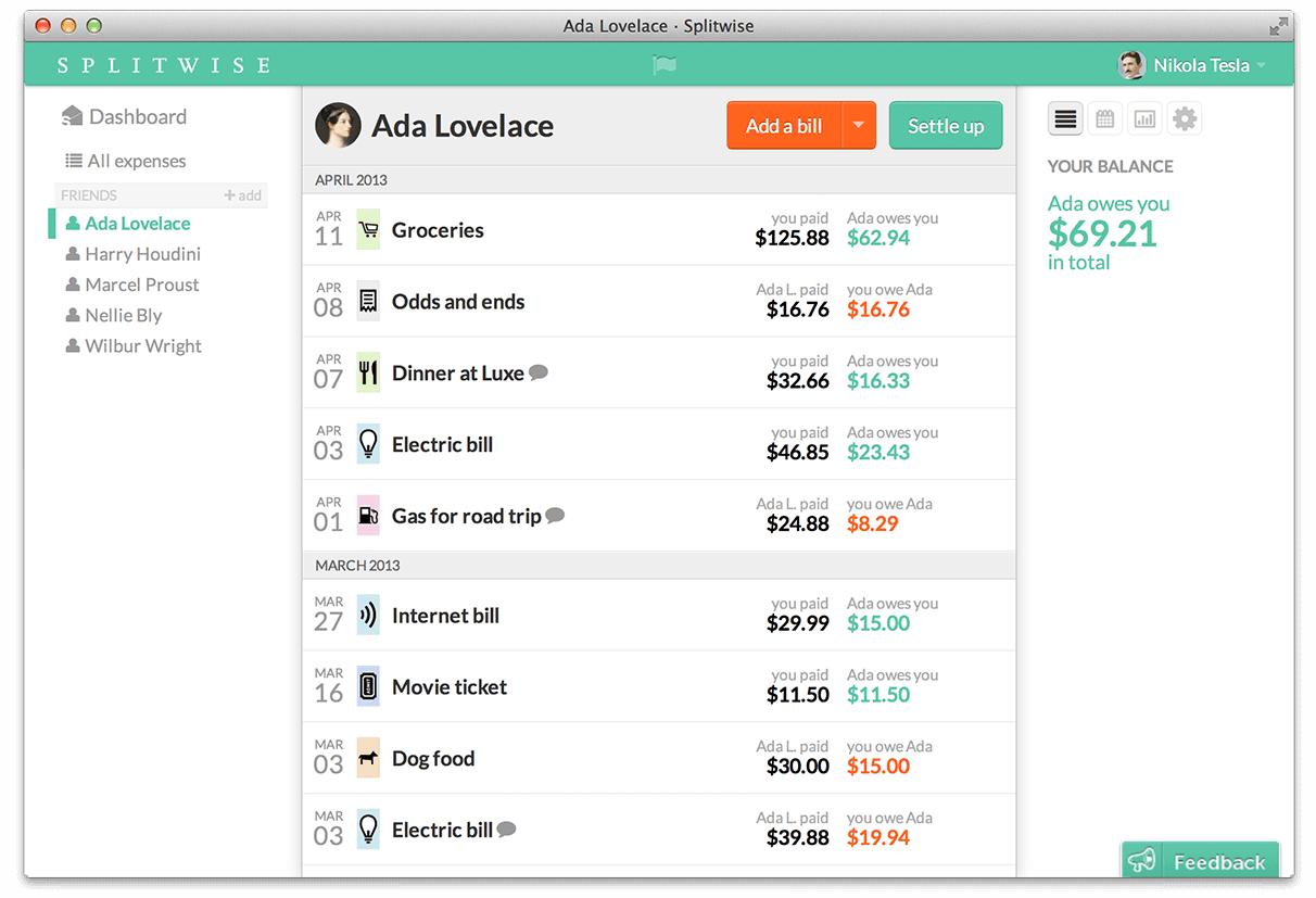 Split Expenses With Friends Splitwise