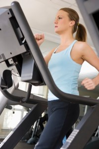 Running Machine Woman at gym - MS