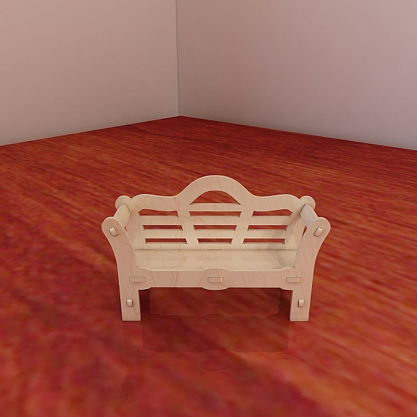 Doll S Bench Pattern Vector Plans For Cnc Router And