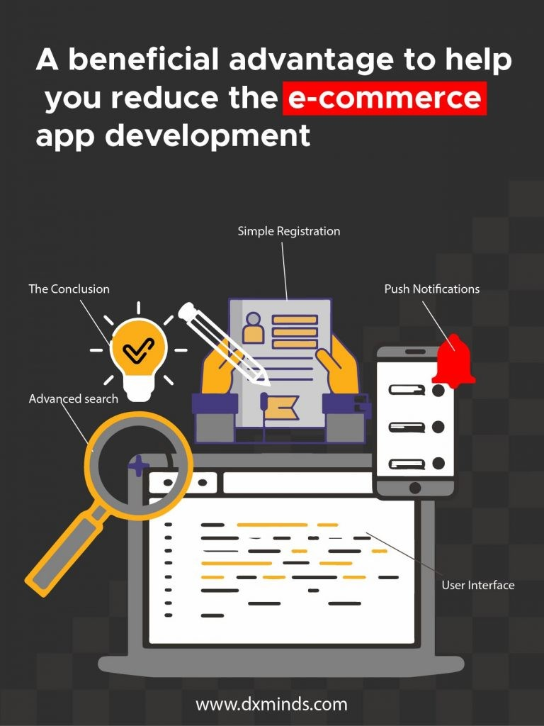 beneficial advantage to help you reduce the e-commerce app development