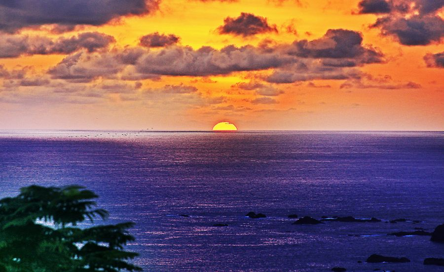 Costa Rica TI5M Tourist attractions spot Sunset.