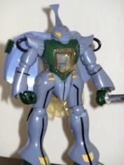 Dunbine by Clover 1/46 scale loose front of robot 1983 Japan from anime Aura Battler Dunbine 1983-1984 Seisenshi Dunbine(聖戦士ダンバイン)