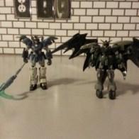 Deathscythe Gundam and Deathscythe Hell Custom 2000 Bandai America MSIA from anime (新機動戦記ガンダムW: Endless Waltz Shin Kidō Senki Gandamu Uingu: Endoresu Warutsu) 1997