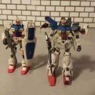 RX-78-02 and Battle Scarred RX-78GP01Fb from anime Mobile Suit Gundam 0083: Stardust Memory(機動戦士ガンダム0083 STARDUST MEMORY, Kidō Senshi Gandamu 0083 Stardust Memory) 1991-1992