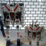 Macross VF-1J DX 1/55 scale and ST 1/100 scale - Takatoku Toys 1983 from anime Super Dimension Fortress Macross( 超時空要塞マクロス or Chōjikū Yōsai Makurosu)