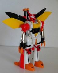 Aura Battler Billbine 1/46 scale SF Fantasy Figure Clover KO Knockoff front angle of robot from anime Seisenshi Dunbine 1983-1984 Tomy
