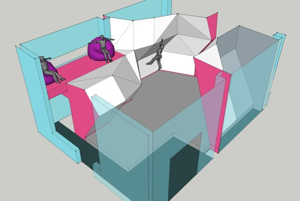 Layout wip of 2nd floor area.