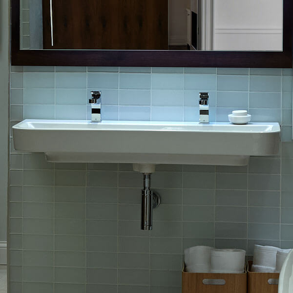 equility 47 inch wall hung two faucet