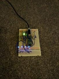 LED breadboard testing (dim)