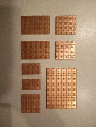 Prototyping board pieces