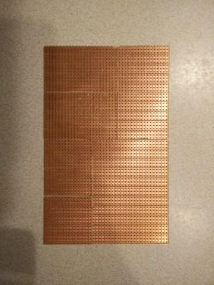 Prototyping board cuts