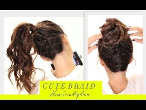 Cute BRAIDS BACK TO SCHOOL HAIRSTYLES Hair Tutorial