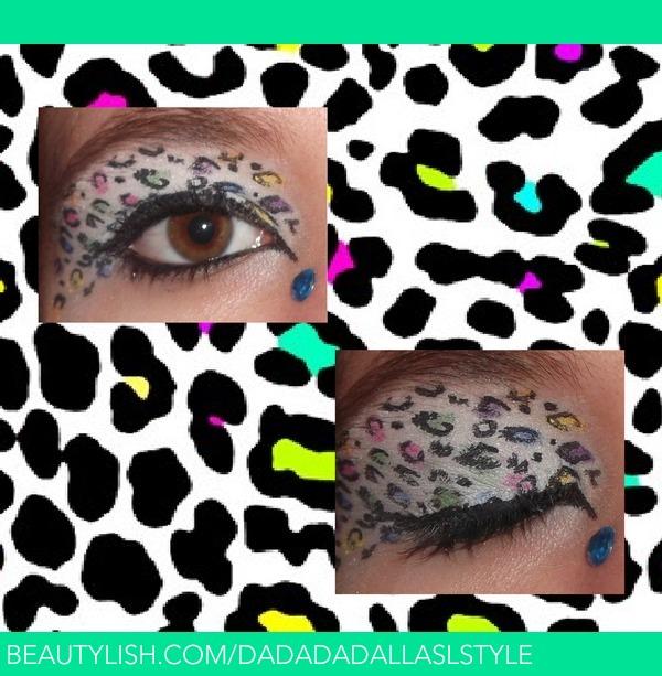 Cheetah Print Eye Shadow Makeup