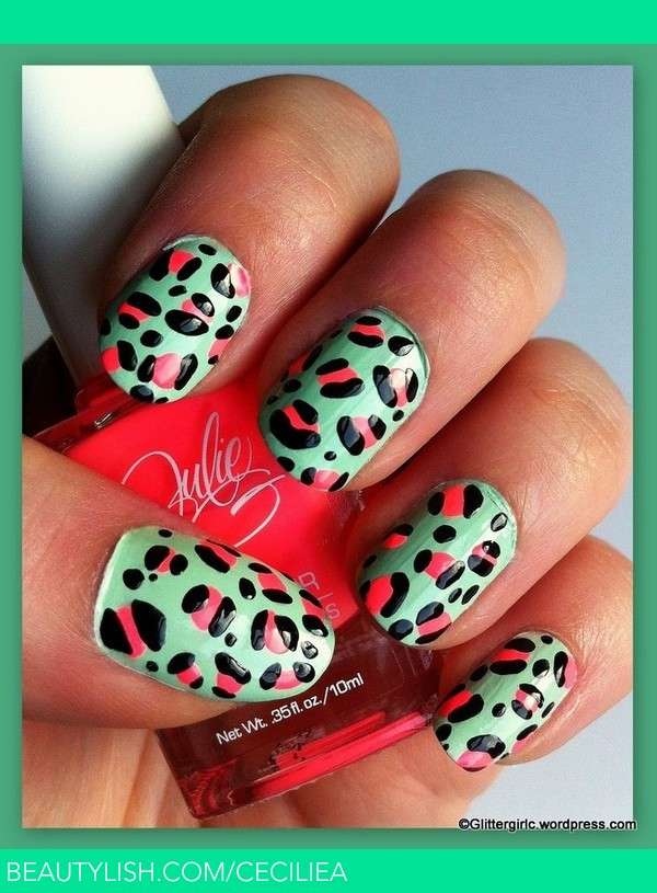 Spring Leopard Nails Cecilie Alstad Os Ceciliea