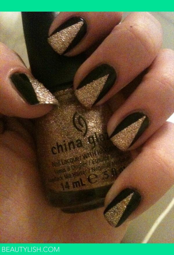 Black Amp Gold Nail Art Paige Hs Photo Beautylish