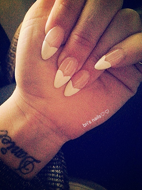 French Heart Tip Stiletto Nails Brittany Gs Bribee