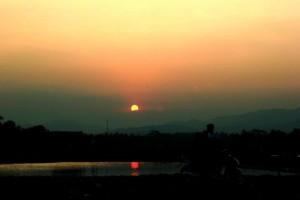 sunset-waduk-jangari