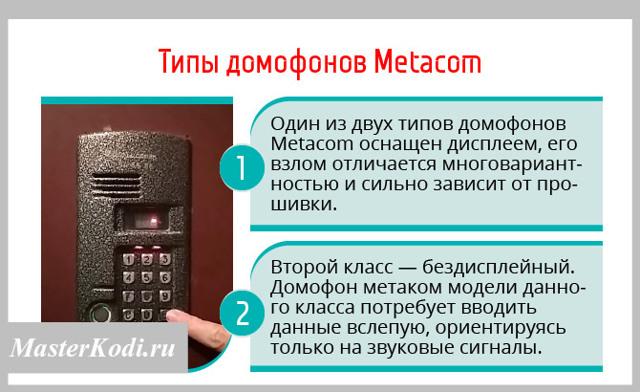 """İnterkom """"Metak"""" nasıl açılır: Kapatma sistemlerinin mekanizmalarının modelleri ve nüansları türleri"""