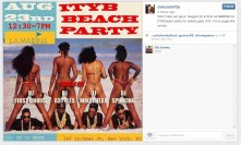 Tweet for private party Aug 23, 2014. #ITYB stands for I Take Your Bitch