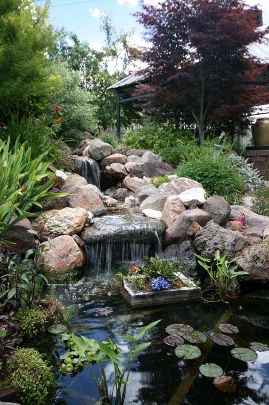 Building Garden Waterfall