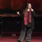 Meghan speaking during a Saturday evening service at Passion for Truth
