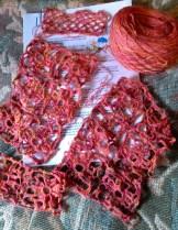 Corelli crocheted laceweight scarf