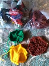 Knit & crochet hexagon blanket