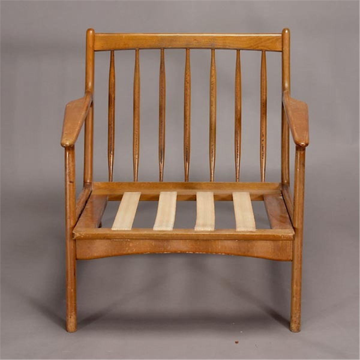 Modern 1950s Danish Spindle Back Arm Chair