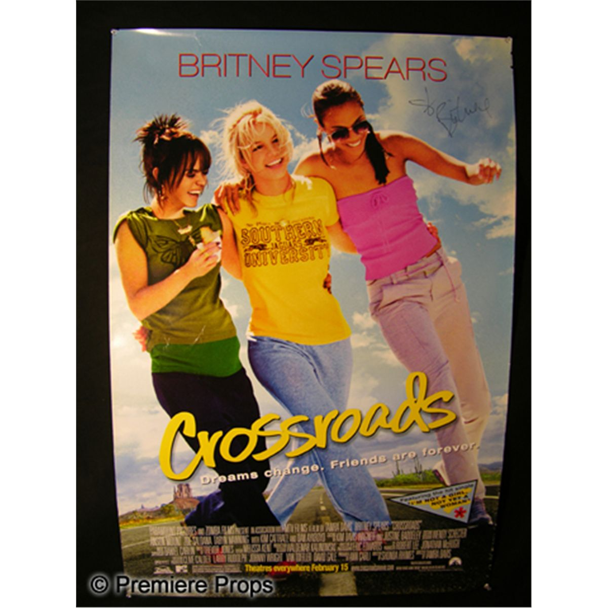 britney spears signed crossroads poster