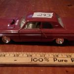 1964 Ford Fairlane Thunderbolt Scale 1 24 Metal Diecast Model
