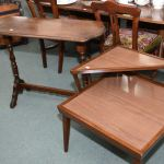 Mid 20th Century Walnut Console Sofa Table And A Mid Century