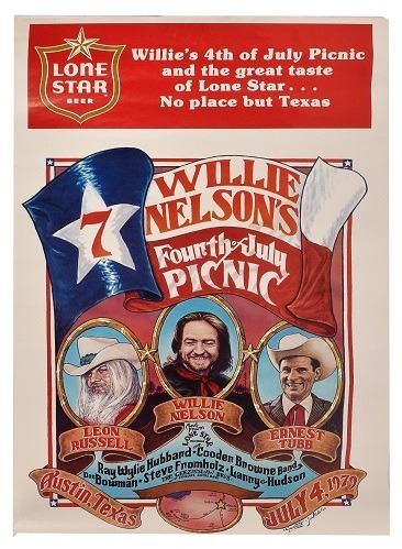 willie nelson 4th of july picnic poster