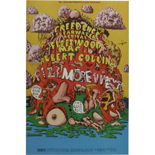 creedence clearwater fleetwood mac poster
