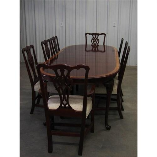 ethan allen mahogany dining table chairs