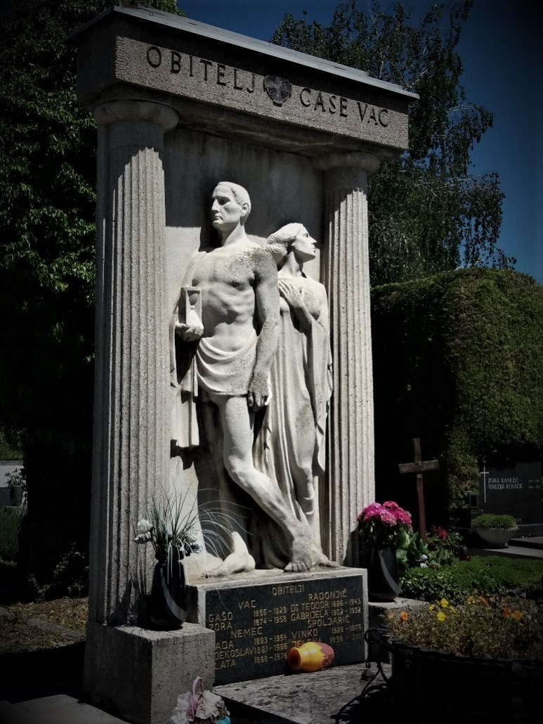 Tombstone at Varaždin cemetery croatia