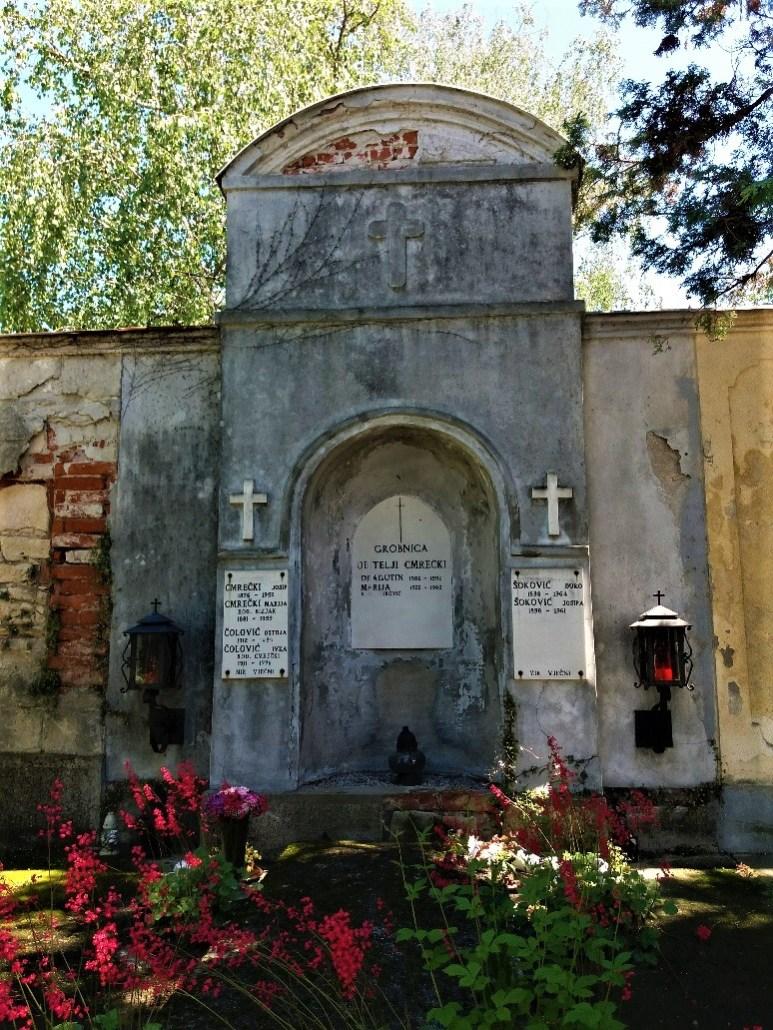 Wall memorial Varaždin cemetery croatia