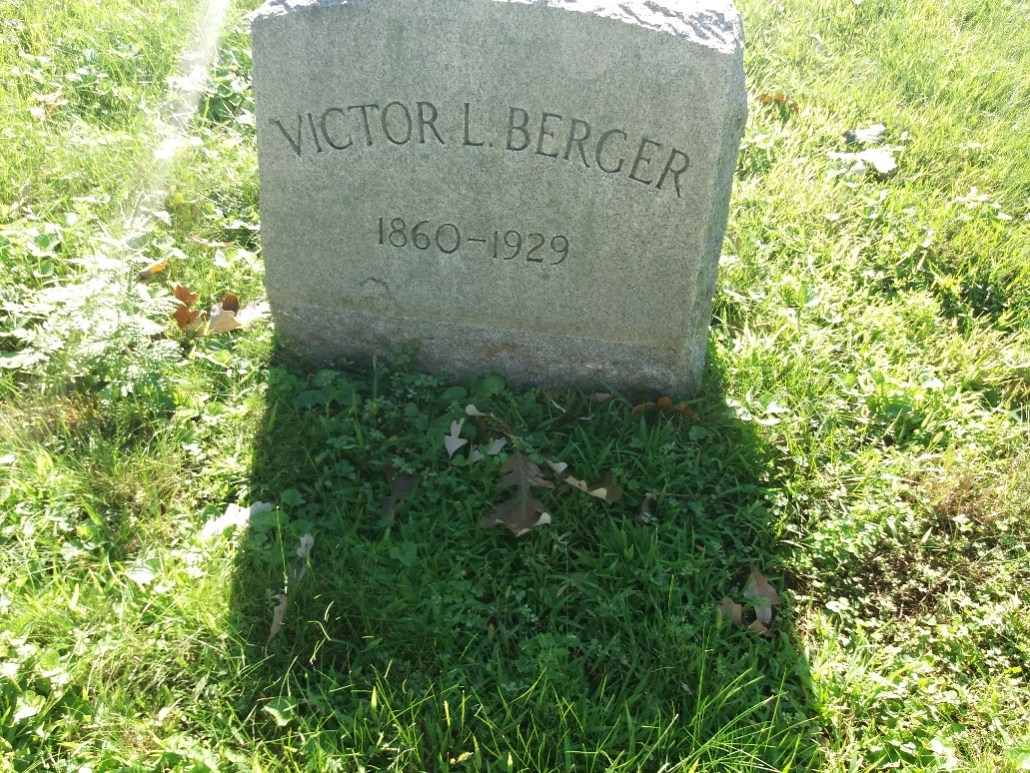 Gravemarker for Victor Berger in Forest Home Cemetery Milwaukee